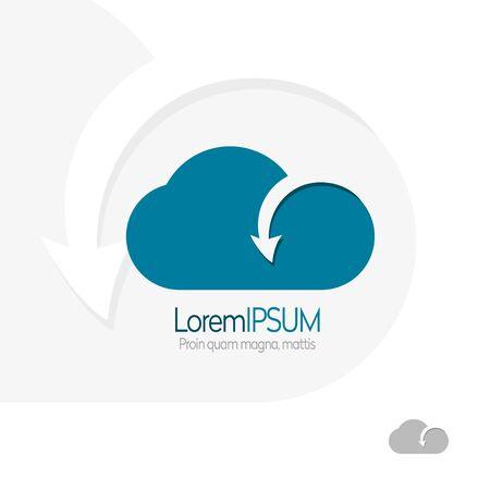 Cloud Logo design. Cloud Logo for technology data solutions concept. Cloud Logo business concept. Cloud Logo weather icon. Cloud Logo concept.Cloud Logo-stock vector.Cloud logo and icon. Cloud storage