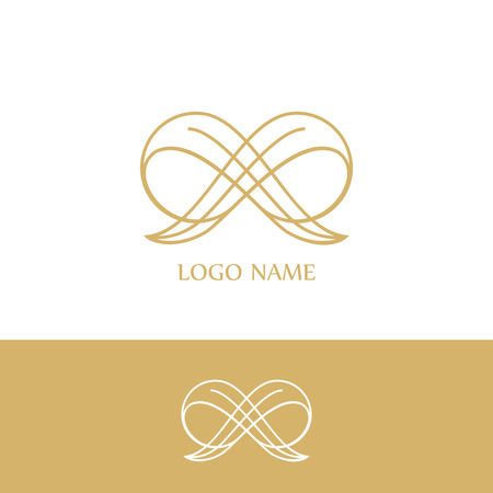 Logo luxery.  Business sign, identity for Restaurant, Royalty, Boutique, Hotel, Heraldic, Fashion ,Real estate,Resort,King, tattoo,Auctions,Vector logo Illustration