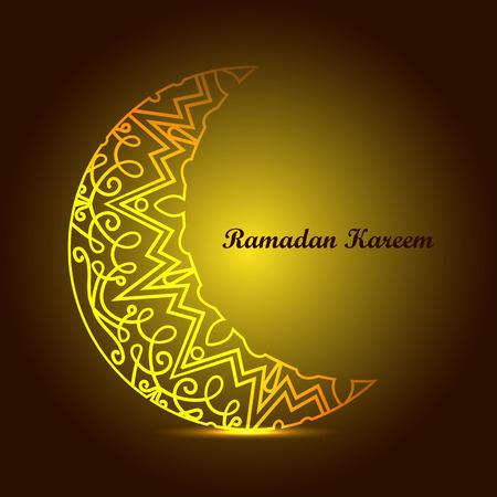 Kareem Ramadan. Conception Ramadan. Fond de Ramadan Kareem avec ornement islamique. Traditions du Ramadan Ramadan mubarak Carte de voeux et invitation.