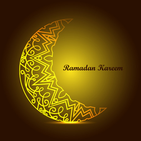 Ramadan Kareem. Projeto do Ramadã. Fundo de Ramadan Kareem com ornamento islâmico. Tradições do Ramadã. Cartão e convite de Ramadan Mubarak.