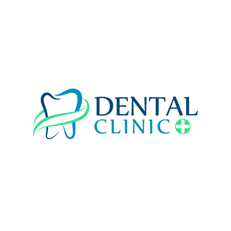 dentures: Can be used as logo for dental, dentist or stomatology clinic, teeth care and health concept. Illustration