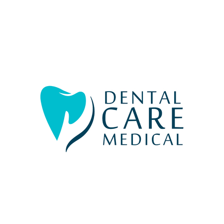 Can be used as logo for dental, dentist or stomatology clinic, teeth care and health concept.  イラスト・ベクター素材