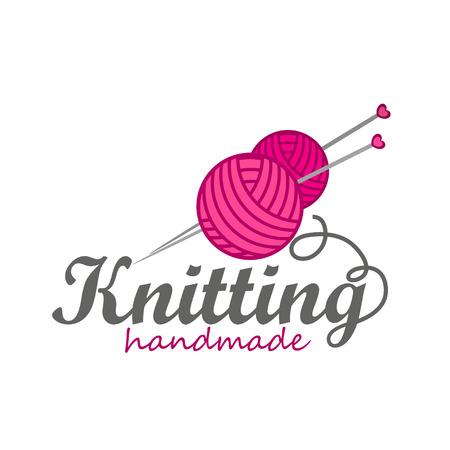Knitting logo elements