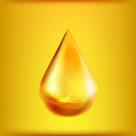 Oil drop. Vector icon isolated on background.