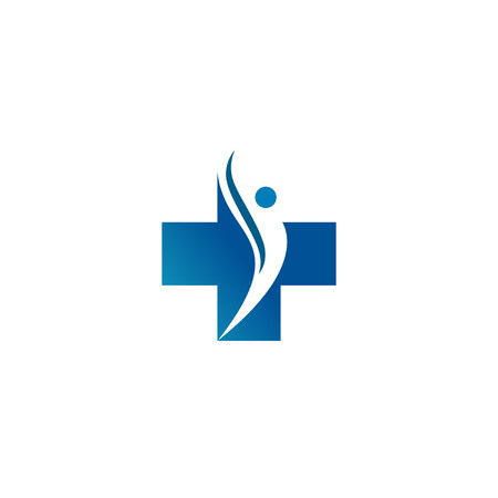 A Logo for the clinic, pharmaceutical company. Logo of the family doctor, first aid. Health and medical cabinet Illustration