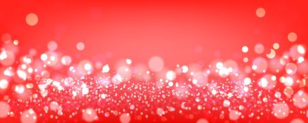 Red bokeh background. Red festive background with bokeh. Vector illustration.