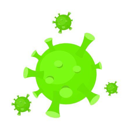 Covid 19. Coronavirus isolated on white background