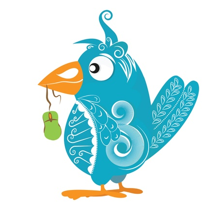 Funky bird - mascot Vector