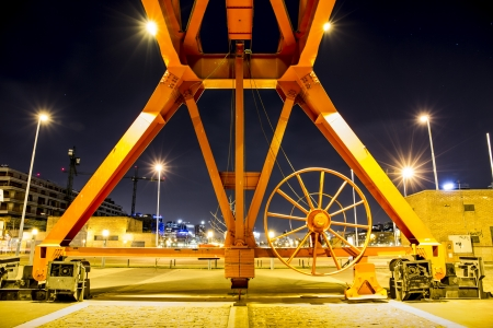 Metal Structure, night  Stock Photo