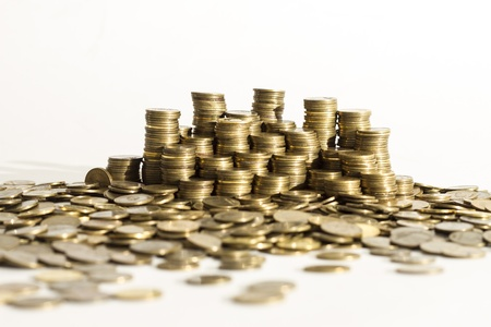 gold and silver coins: Piles of coins  Capitalism, cash, money dolar