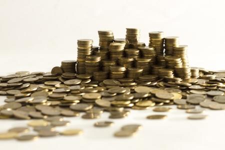 dolar: Montones de monedas capitalismo, dinero, dolar dinero Foto de archivo