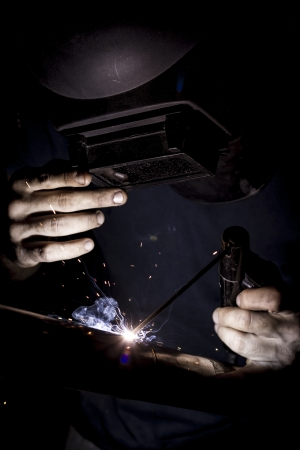 Welding with sparks Stock Photo - 20021595