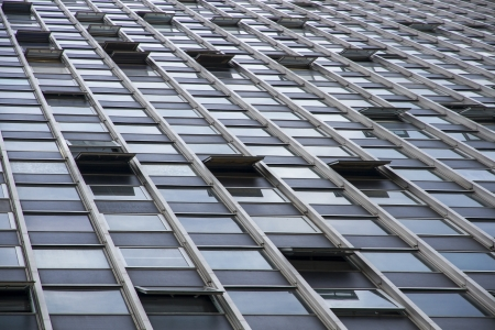 A detail of a skyscraper windows photo