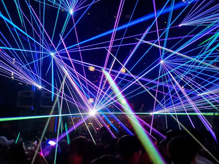 A amazing party needs some colourful laser like these.