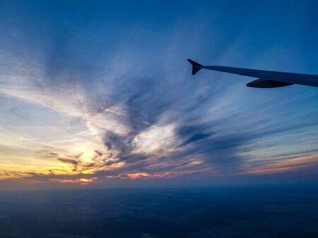 Approaching Stuttgart with a beautiful sunset