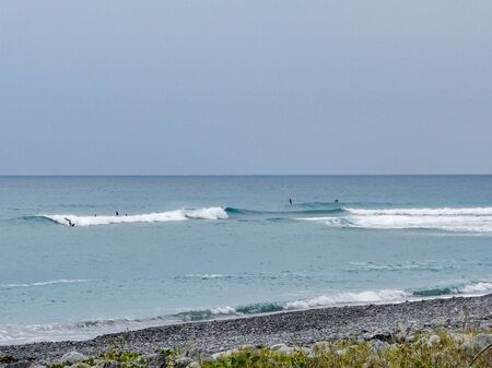 Just a few smaller waves at this morning for the surfers.