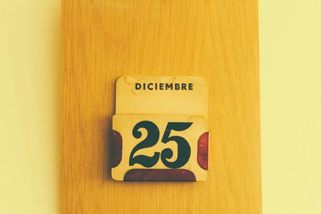 almanac: Almanac date with marked Christmas Stock Photo