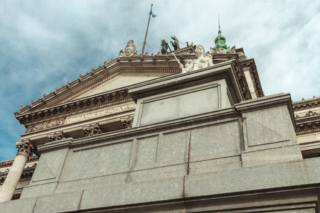 legislators: Sculpture at the entrance of the Congress of the Nation Argentina Editorial