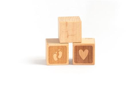 woodblock: Woodblock child Stock Photo