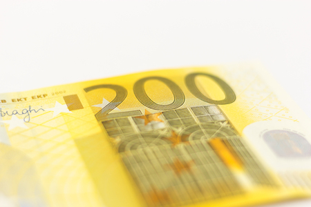 mitigate: 200 euro note Stock Photo