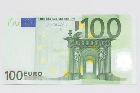 100 ユーロのメモ 写真素材
