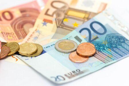 euro notes money coins Stock fotó