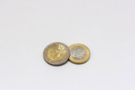 accumulate: euro coins Stock Photo