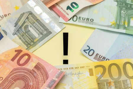 mitigate: exclamation mark euro money
