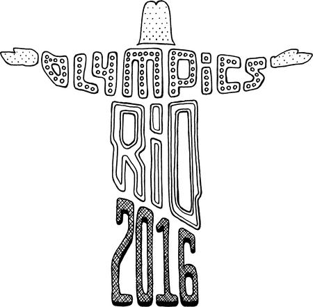 olympics: Olympics Christ Statue Rio 2016 Editorial