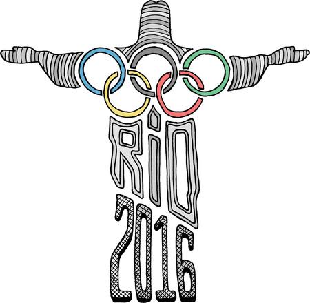 olympics: Christ Statue Rio 2016 Olympics Editorial