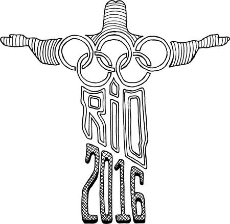 rio: Christ Statue Rio 2016 Olympics Editorial