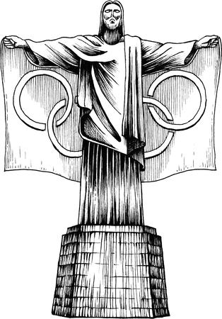 rio de janeiro: Olympics Christ Statue Rio de Janeiro