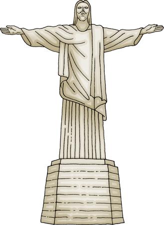 Christ statue Christ the Redeemer Redactioneel