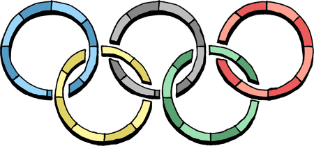 the olympic rings: Olympic rings logo Editorial