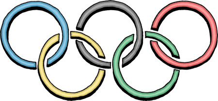 olympic rings: Olympic rings logo Editorial