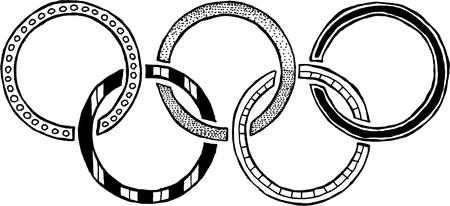 olympic rings: Olympic rings logo Editorial