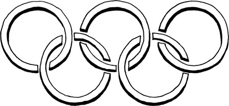olympic game: Olympic rings logo Editorial