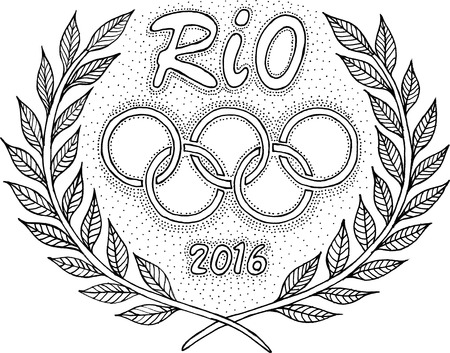 olympic ring: Rio 2016 Olympic rings laurel wreath
