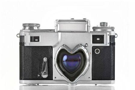 viewfinder vintage: old camera-love camera concept