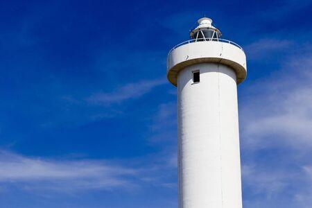 viareggio: lighthouse in viareggio on blue sky