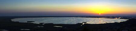 Lago di Massaciuccoli al tramonto