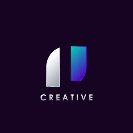 Negative Space L letter initial logo template design for business identity.