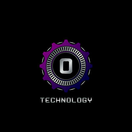 Technology Gear Rail O Letter Logo vector design, the techno logo for industrial, automotive, technology and more brand identity. Logo
