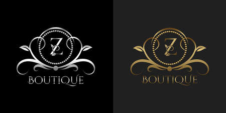 Luxury Logo Letter Z Template Vector Circle for Restaurant, Royalty, Boutique, Cafe, Hotel, Heraldic, Jewelry, Fashion