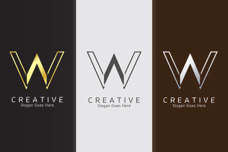 Modern Clean  Letter W Vector Template Design for Brand Identity
