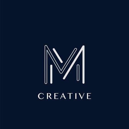 Simple Modern M Letter Logo, Monogram Vector Design Logo Template