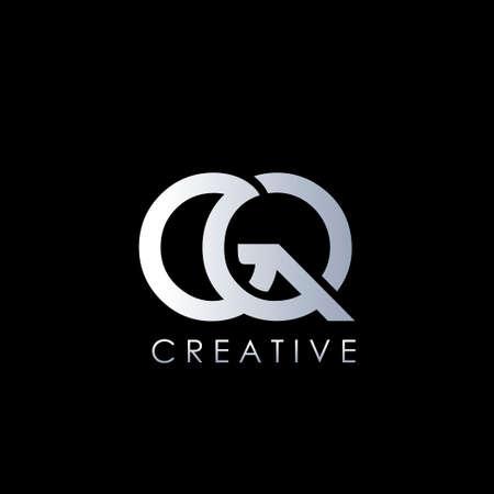 GQ  letter. Vector Graphic Branding Initial Letter Element template design.. Ilustração