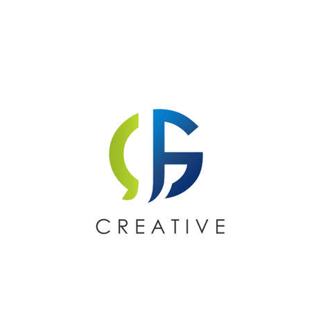 Switable Technology GJ, JG  letter. Vector Graphic Branding Initial Letter Element template design.. Ilustração
