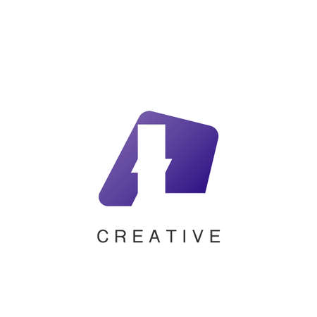 Abstract Techno Negative Space Initial Letter L Logo icon vector design.