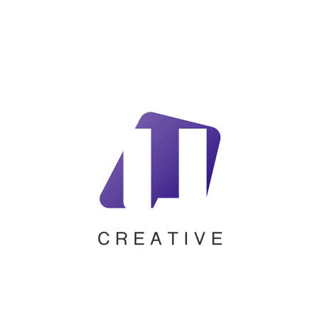 Abstract Techno Negative Space Initial Letter U Logo icon vector design.